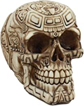 ATL Ebros Mayan Tribal Tattoo Chieftain Skull Statue Skeleton Cranium Spooky Voodoo Figurine Sculpture