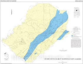 Historic Pictoric Map : Ground-Water Availability in Jefferson County, Alabama, 1990 Cartography Wall Art : 24in x 18in
