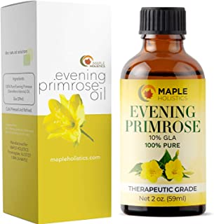 Pure Evening Primrose Oil for Face Skin & Hair - Cold Pressed for Greater Efficacy - Great Gift for Mom - Moisturize Dry & Flaky Skin - Fights Aging & Free Radical Damage - Fully Guaranteed