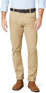 Alpha Original Khaki Slim Tapered-Stretch Twill Pantalones para Hombre
