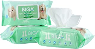 Deodorizing Hypoallergenic Pet Wipes with Fragrance Free Natural Organic for Cleaning Face Butt Eyes Ears P...
