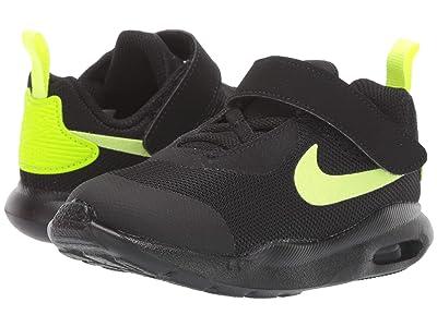 Nike Kids Air Max Oketo (TDV) (Infant/Toddler) (Black/Volt/Total Orange) Boys Shoes