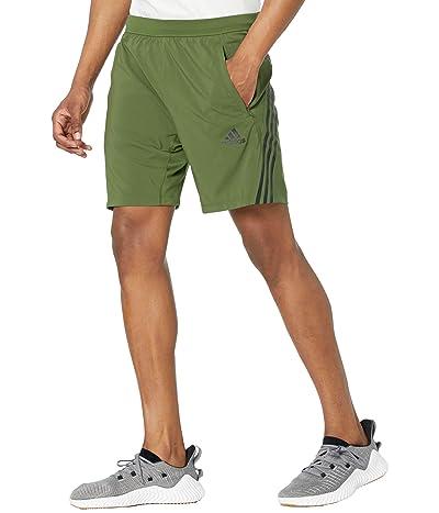 adidas AEROREADY 3-Stripes 8 Shorts (Wild Pine) Men