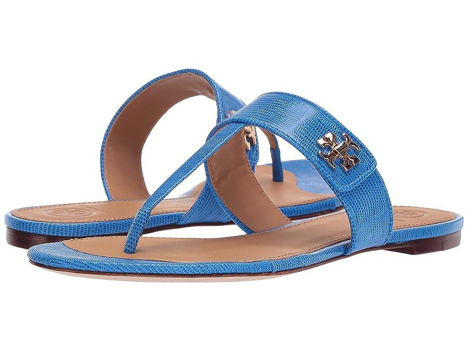 Tory Burch Kira Thong Sandal (Bright Tropical Blue) Women