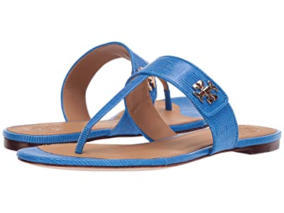 Tory Burch Kira Thong Sandal (Bright Tropical Blue) Women