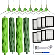 LesinaVac Replacement Accessory Kit for iRobot Roomba i7 i7+/i7 Plus E5 E6 Vacuum Cleaner.Replacement Parts Set (2 Set of Multi-Surface Rubber Brushes,8 Side Brushes,8 Filters,2 Tools)