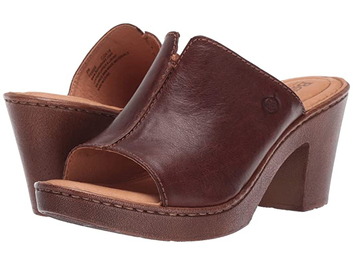 Born  Wenaha (Brown Full Grain Leather) Womens Sandals