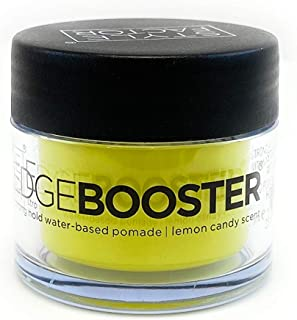 Style Factor EDGE BOOSTER Strong Hold Water Base Pomade- Excellent for Taming Edges & Braiding Hair (Lemon Candy, 0.85oz)