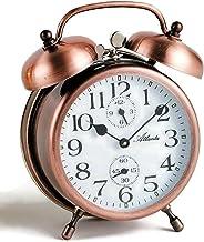 Atlanta 1058-18 Mechanical Bell Alarm Clock Copper Metal Manual Winding