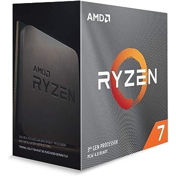 Amazon Com Amd Ryzen 7 3800x 8 Core 16 Thread Unlocked Desktop Processor With Wraith Prism Led Cooler Computers Accessories
