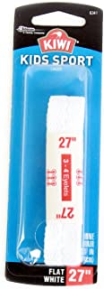 Kiwi flat laces, 27-inch, 1 pair, white