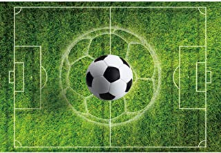 YongFoto 6x4ft Sports Playground Backdrop Football Field Green Lawn Photography Background Soccer Sports Activities Celebration Interior Decor Kids Adult Portrait Photo Shoot Studio Props Wallpaper