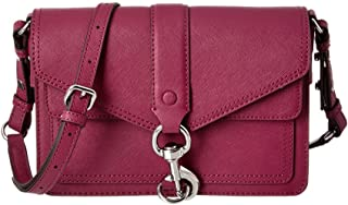 Hudson Moto Saffiano Leather Crossbody Bag, Magenta