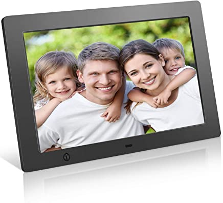 $79 Get Digital Picture Frame 10.1 inch Electronic Photo Frame with Motion Sensor and Automatic Rotation/High Resolution 1280x800IPS LCD/1080P 720P Video Player/Stereo/MP3/Calendar/Time/Remote Control