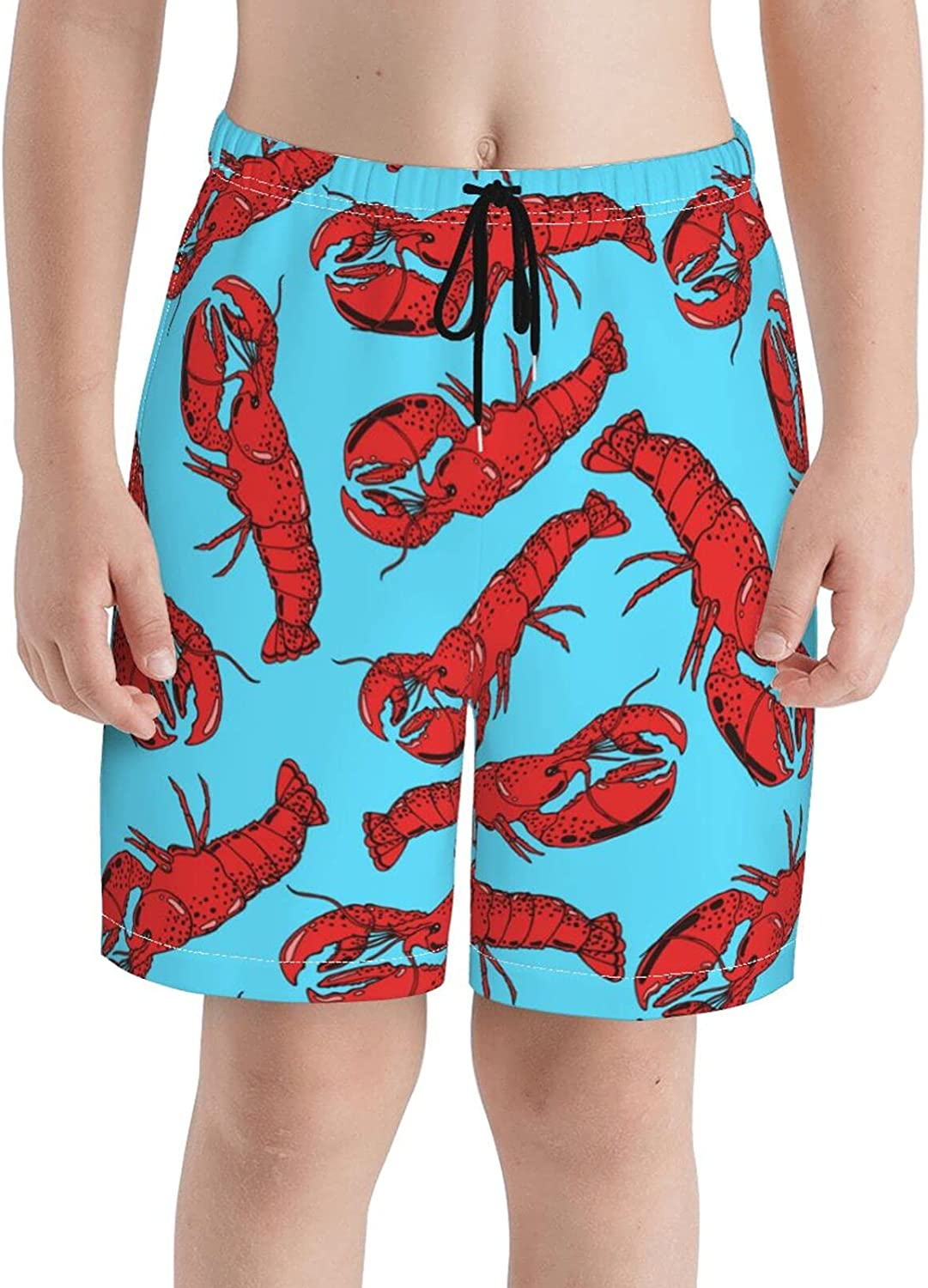 Fairy UMI Cooked Lobster Boys Quick Dry Swim Trunks Youth Soft Beach Surfing Board Shorts 7-20 Years