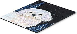 Caroline's Treasures Mouse/Hot Pad/Trivet, Starry Night Maltese (SS8460MP)