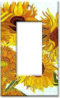 Single Gang Rocker Wall Plate - Van Gogh: Sunflowers