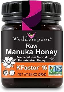 Wedderspoon Raw Premium Manuka Honey KFactor 16, 8.8 Oz, Unpasteurized, Genuine New Zealand Honey, Multi-Functional, Non-GMO Superfood