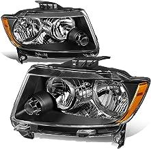 For 11-13 Jeep Grand Cherokee WK2 Pair Black Housing Amber Corner Front Bumper Headlight/Lamps