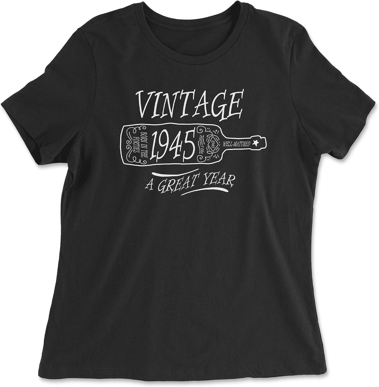 HARD EDGE DESIGN Women's Aged Like a Fine Wine 1945 T-Shirt