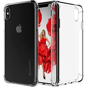 Luvvitt iPhone Xs Max Case [Clear Grip] Soft Slim Flexible TPU Back Cover Transparent Rubber Case for Apple iPhone Xs Max 6.5 inch 2018 - Crystal Clear