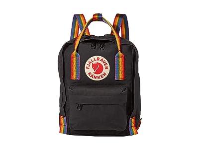 Fjallraven Kanken Rainbow Mini (Black/Rainbow Pattern) Backpack Bags
