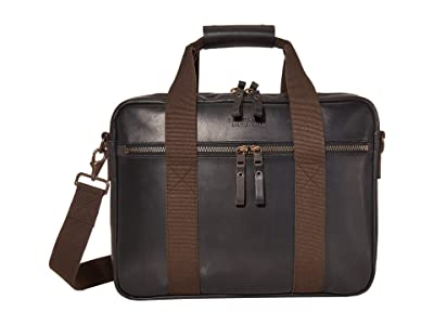 Filson Dawson Leather Briefcase (Black) Handbags