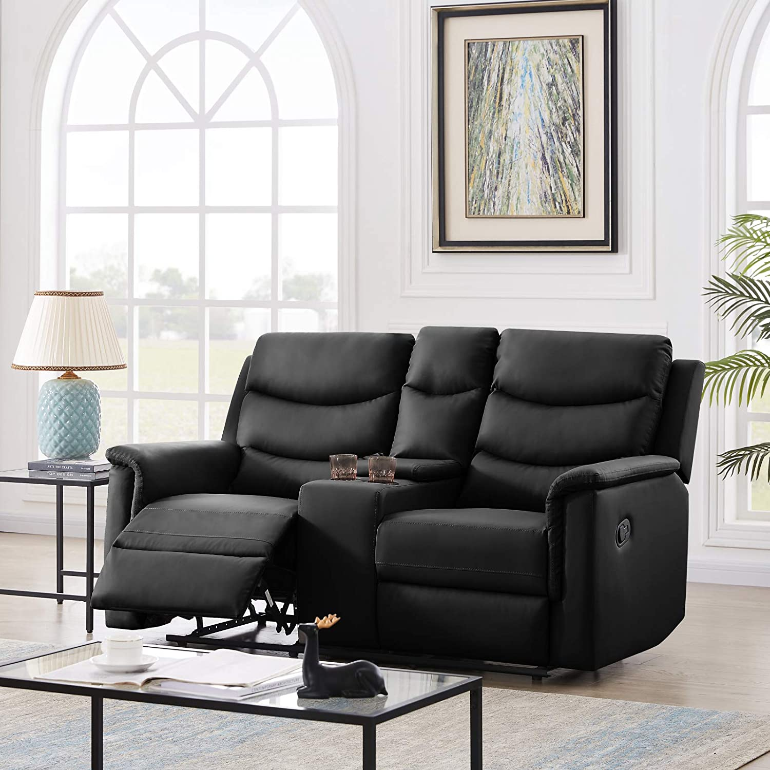 Recliner Lowest price challenge Chair PU Leather Sofa Living Room Cha Loveseat Raleigh Mall