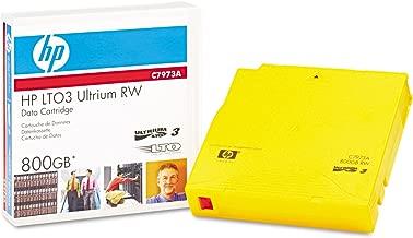 HP C7973A 1/2-Inch Ultrium LTO-3 Cartridge, 2200ft, 400GB Native/800GB Compressed Capacity