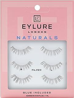 Eylure Naturals Multipack False IA، سبک شماره 020، قابل استفاده مجدد، چسب شامل 3 جفت