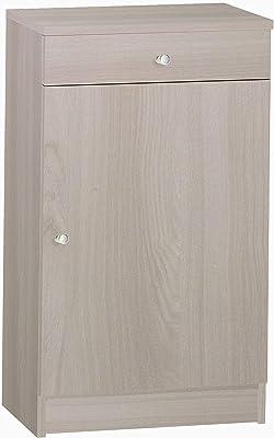 Esidra Mobiletto Basso Multiuso, 1 Anta + 1 cassetto, 46 x 80 x 34 cm