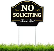 No Soliciting Sign for Home Yard - House Lawn - Great for Businesses - Stop Solicitation, Deter Door Knockers and Bell Rin...