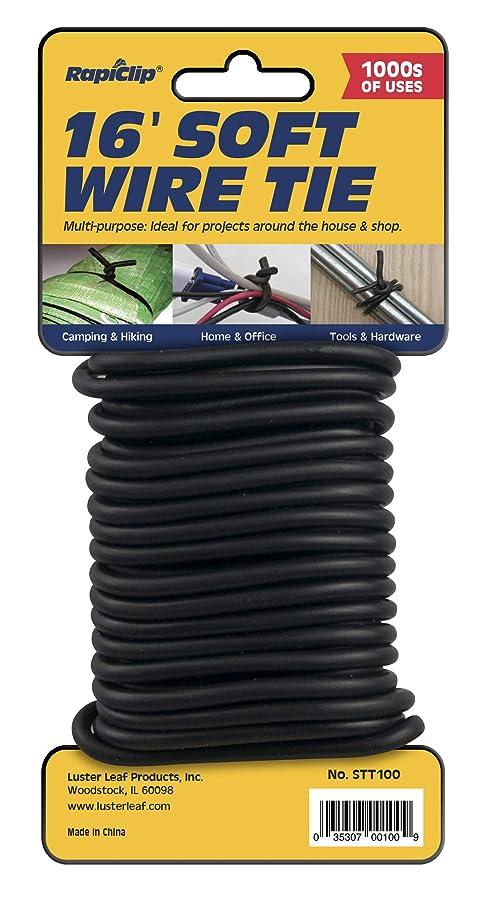 Luster Leaf STT100 Soft Twist Tie, Black, 16' Light Duty