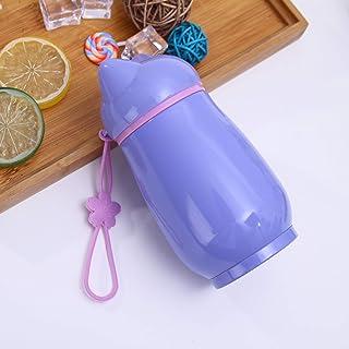 Roovtap - Taza Aislante de Acero Inoxidable al vacío con Cuerdas de elevación portátil, 500 ml, Violeta