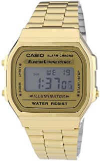 Casio Women's Digital Dial Stainless Steel Watch - A168WG-9WEF