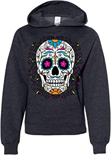 Dia De Los Muertos Pastel Sugar Skull Youth Sweatshirt Hoodie
