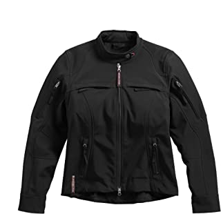 Harley-Davidson Women's Esteem Soft Shell Riding Jacket, Black