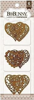 Bobunny Essentials Laser-Cut Chipboard-Hearts