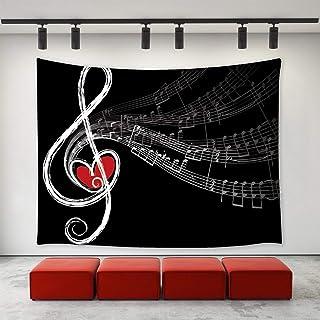 RTEAQ arazzo Arazzo di/Musica Appeso a Parete Nota Musicale/Arazzo/Stampato Arte della Parete/Grande arazzo retr/ò Coperta per Decorazioni in Tessuto Asciugamano da Spiaggia Tappeto parete-39x59inch