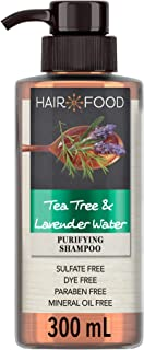 Sulfate Free Shampoo, Dye Free Purifying Treatment, Tea Tree and Lavender Water, Hair Food, 300ml