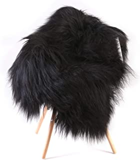 World of Leather White, Fluffy, Soft and Silky Genuine Icelandic Sheepskin Wool Rug (M 44