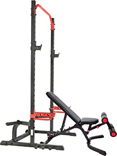 Sunny Health & Fitness Power Zone Squat Stand Power Rack Cage