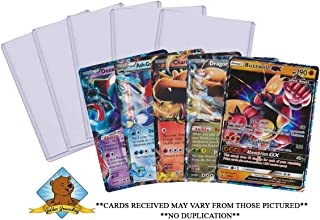 5 Oversized Pokemon Jumbo Cards No Duplication! Includes 5 Top Loaders! GX EX Promo MEGA All Oversize! by Golden Groundhog