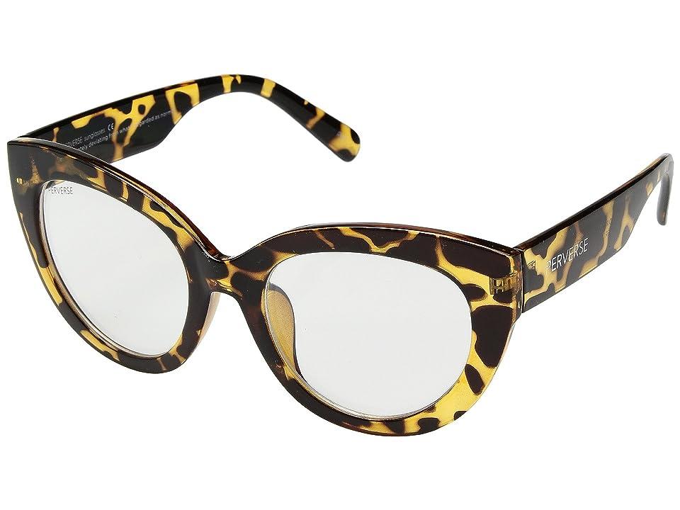 THOMAS JAMES LA by PERVERSE Sunglasses Dorm Girl (Tortoise/Transparent) Fashion Sunglasses