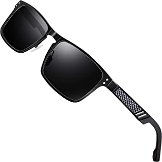 Polarized UV Protection Fishing Golf Driving Sunglasses for Men Al-Mg Metal Frame Ultra Light