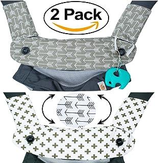 优质水滴和出牙棉垫——适合 Ergobaby Four Position 360 和大多数婴儿背带——箭头设计——低*性——Mila Millie 制造的婴儿派对礼物 Bundle 灰色