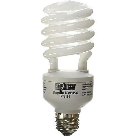 Exo Terra Repti-Glo 10.0 Compact Desert Terrarium Lamp, UVB Light Bulb for Reptiles, PT2189