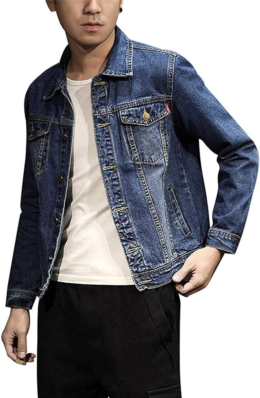 6d2b739d Zhdyhgsd Men's Casual Short Distressed Biker Biker Biker Denim Jean Jacket  Outerwear 8312ba