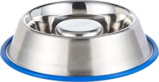 KRUUSE Buster Stainless Steel slow feeder blue base, Small