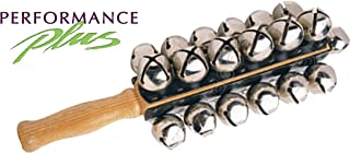 Performance Plus SBL-25 Professional Sleigh Bells- 25 Nickel Plated Jingle Bells- Four Rows with Hard Rock Maple Handle